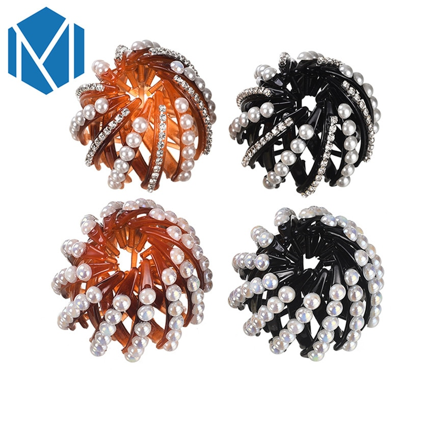 MISM-Trendy-Bird-Nest-Expanding-Women-s-Hair-Bun-Holders-With-Pearl-Rhinestones-Girls-Hair-Claws (2)