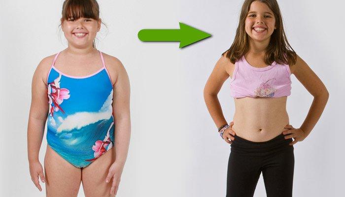 как похудеть 9 летнему ребенку