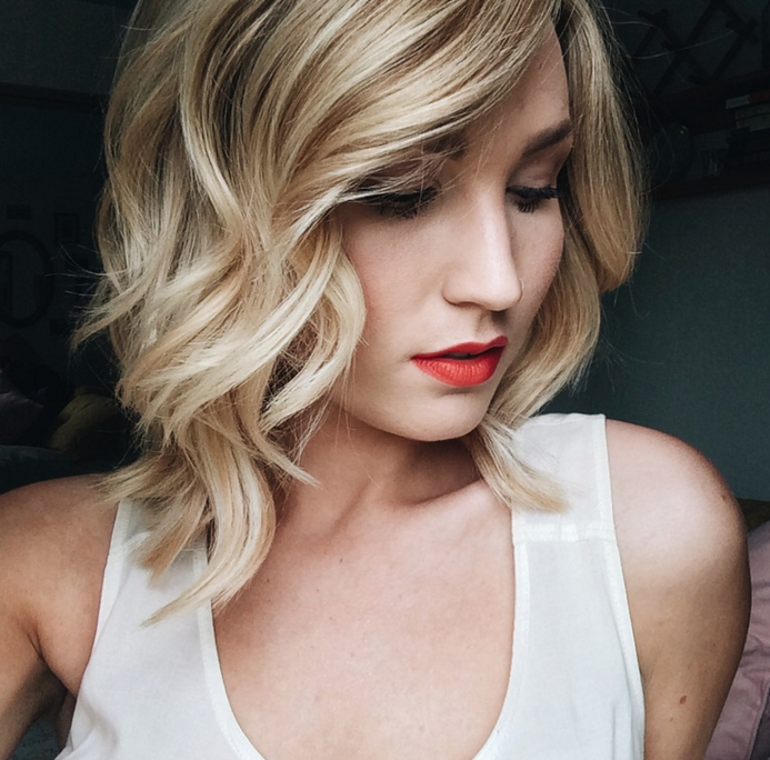 1 wavy blond curls haircut