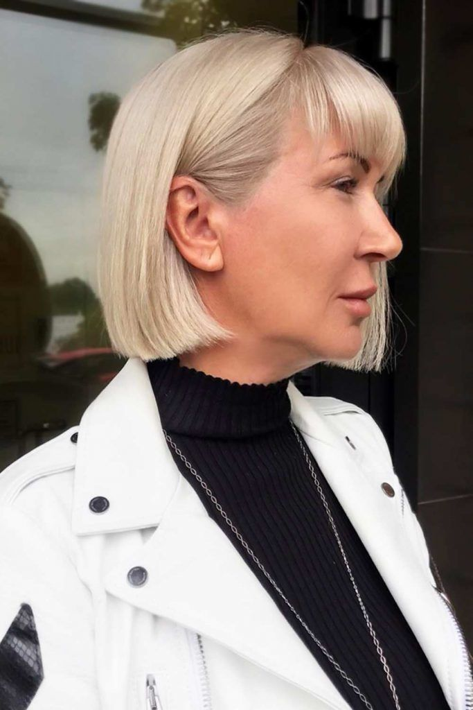 Short Bob Haircuts Sleek #shorthaircuts #haircutsforolderwomen