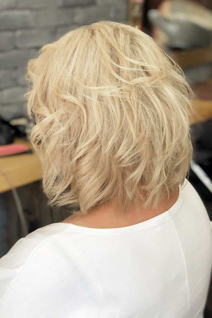 Messy Bob Haircuts Wheat Blonde #shorthaircuts #haircutsforolderwomen