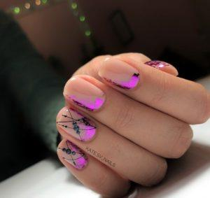 Negative Space Nail Art Design 52