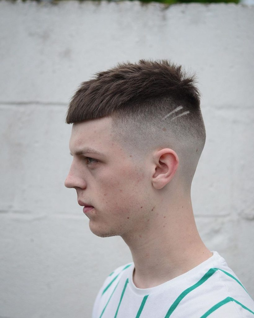 Modern short undercut haircut for men